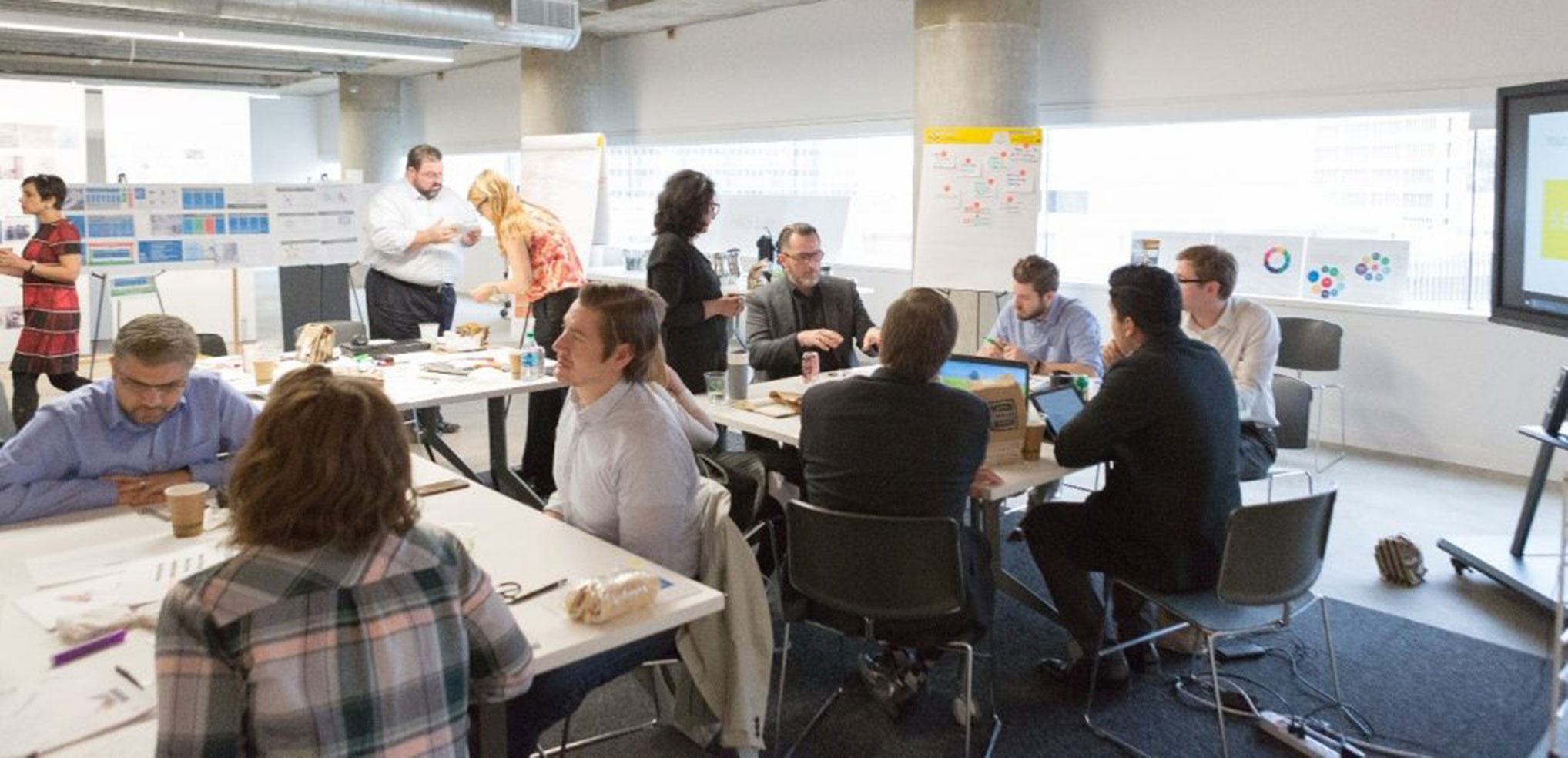 Brainstorming charette at the HKS Lab