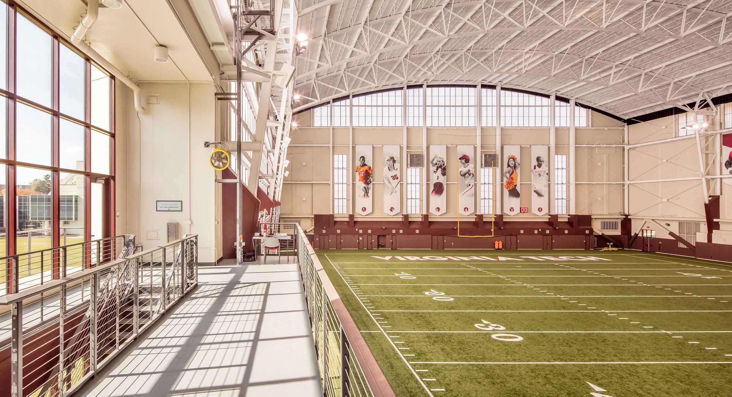 Virginia Tech Previews Indoor Athletic Training Facility