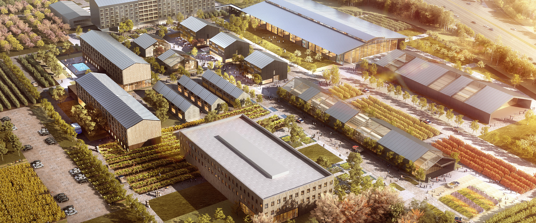 HKS-Designed Farm at Crossroads Commons Receives 2019 Juror Award from AIA Dallas