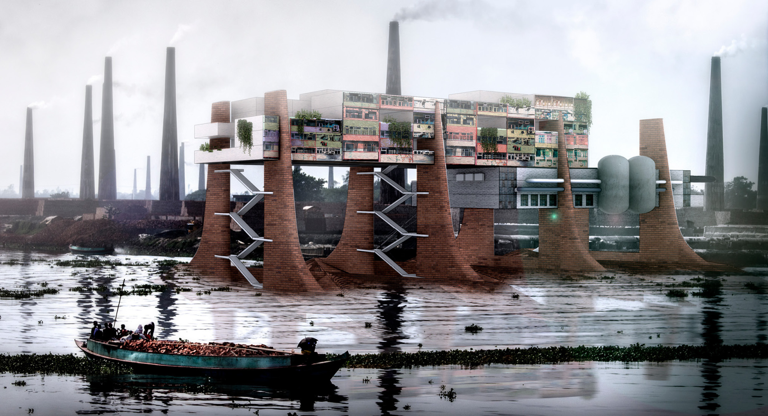 DR/EDGE: HKS' Award Winning Concept to Revive One of the World's Most Polluted Rivers