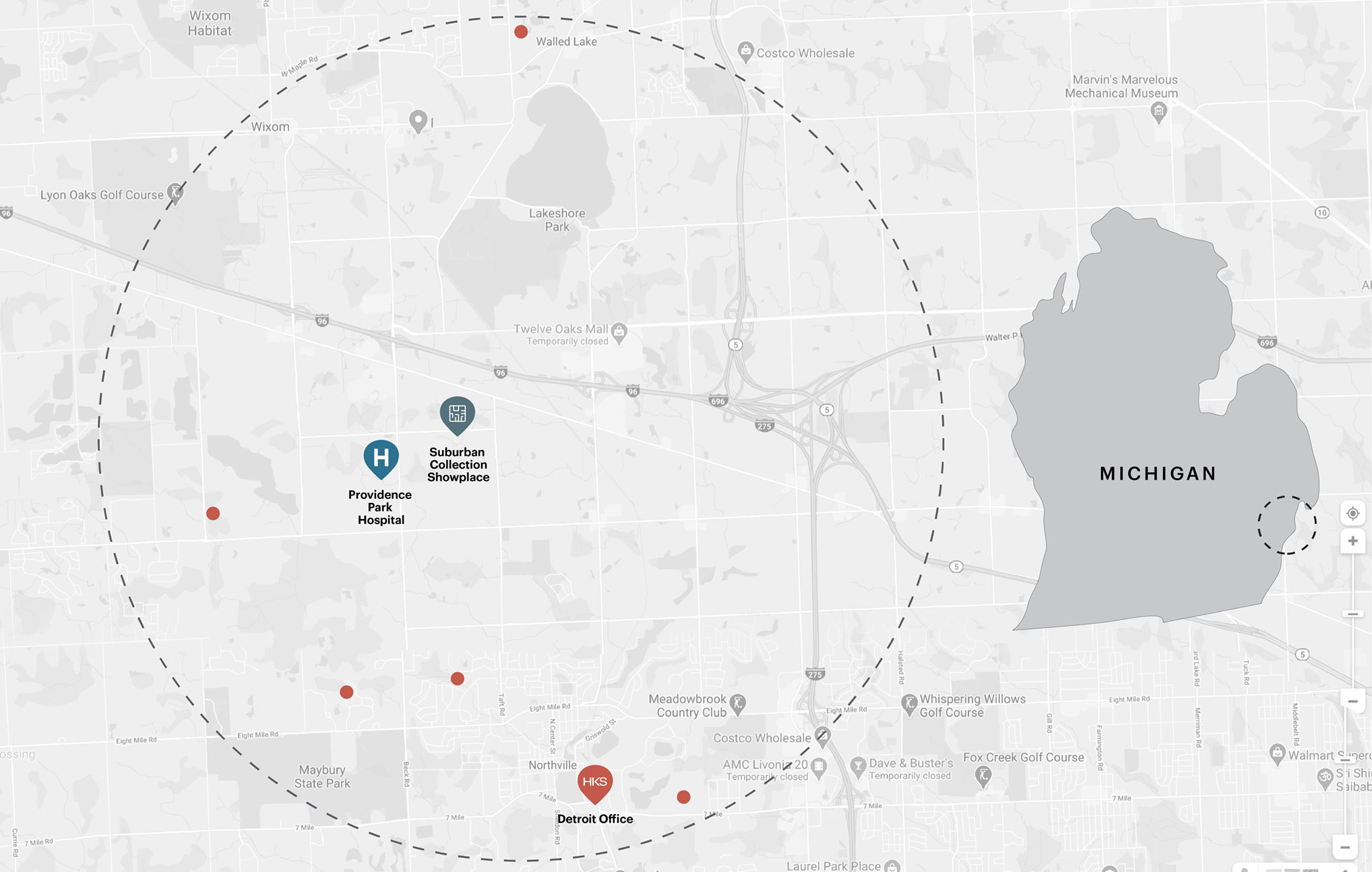 The proximity of the HKS Detroit office and its employees to the project site