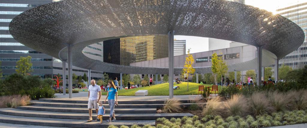 HKS-Designed Pacific Plaza Pavilion Wins 2020 Built Design Award from AIA Dallas